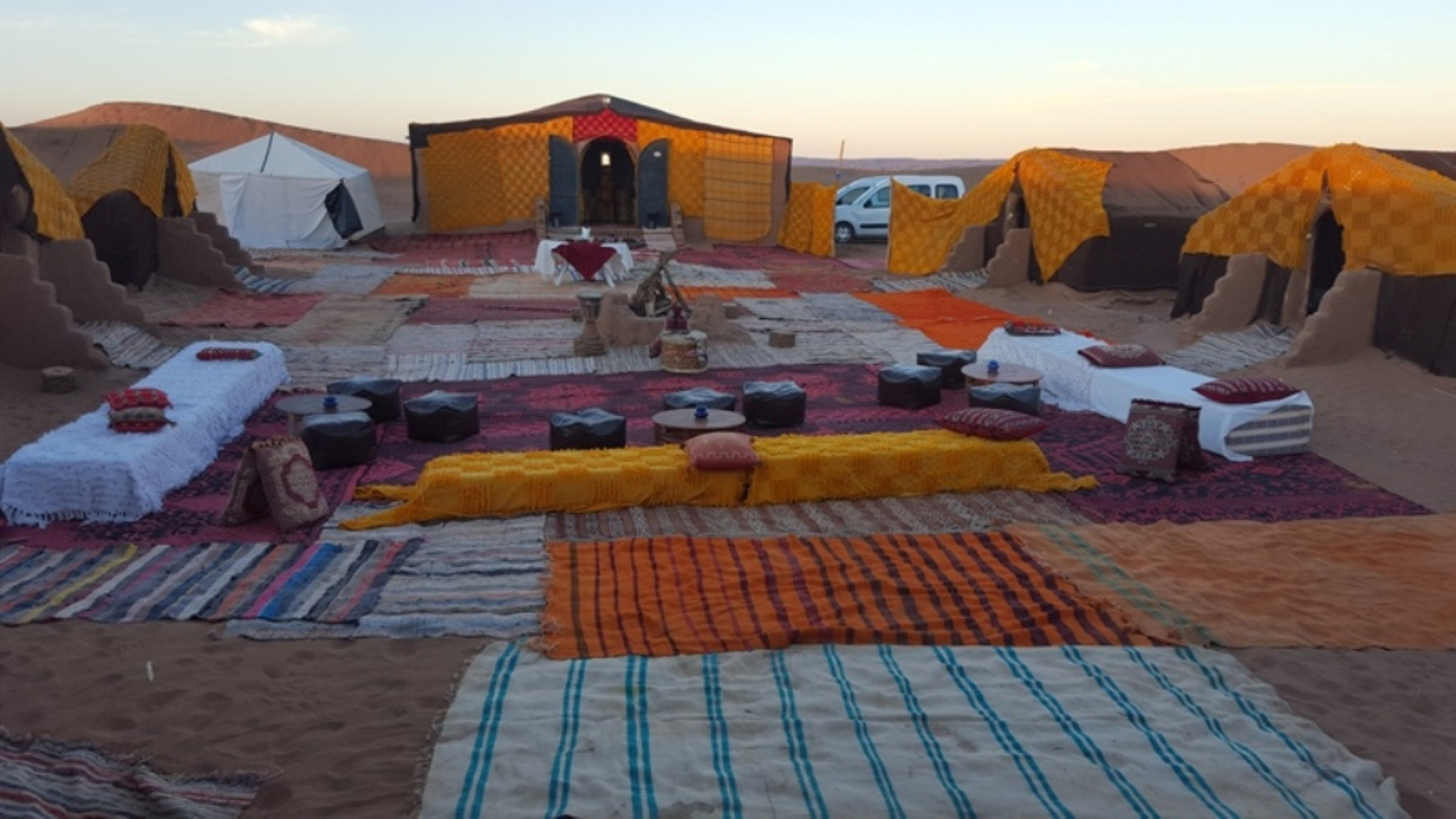 Our Camp at the gate of the desert