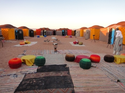 Our Camp at the Chegaga erg